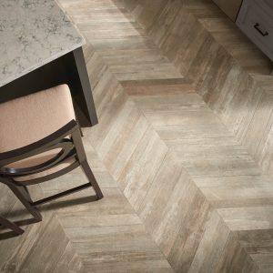 Glee chevron tile flooring | Color Interiors